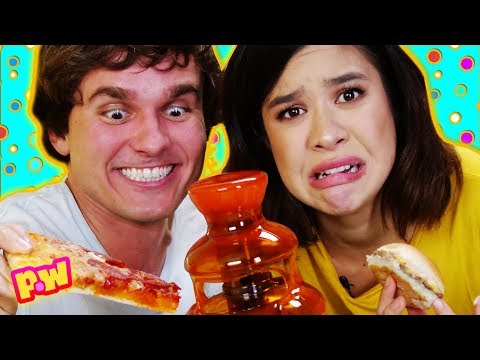 real-vs-gummy-fountain!-favorite-foods-with-a-gummy-coating-taste-test-challenge-~-pocket.watch