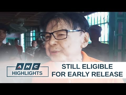 Ex-mayor Sanchez still eligible for early release under revised IRR of Good Conduct law   Top Story