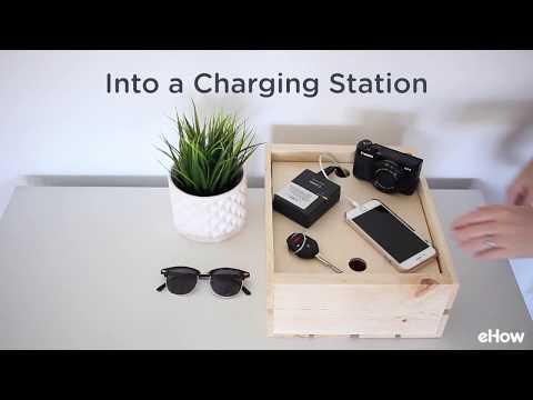DIY Wood Crate Charging Station