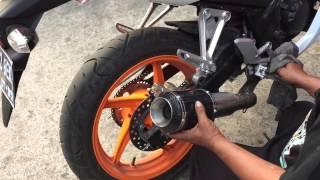 exhaust slip on sound comparison dbs akrapovic lorenzo stock exhaust on cbr 150r k45 indonesia