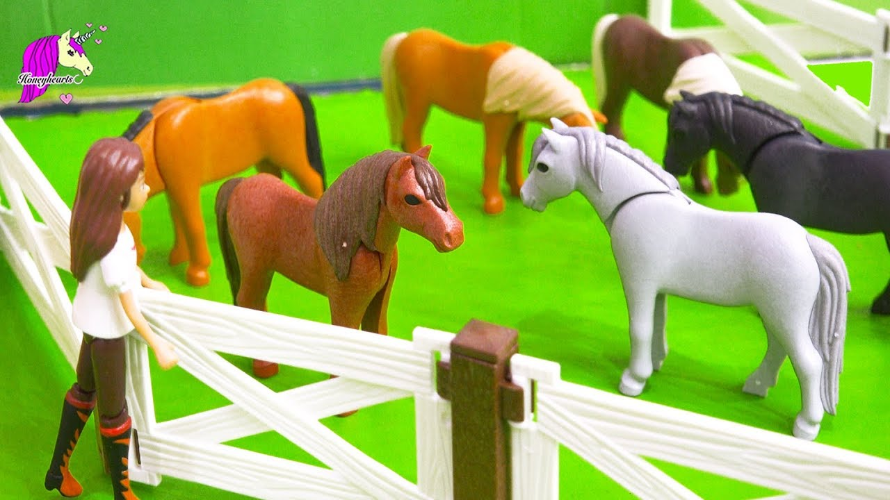 summer job   spirit riding free playmobil pony sitters part 1