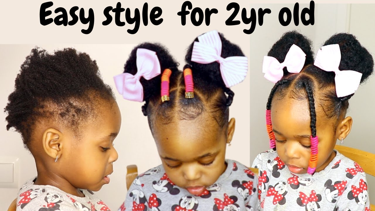 Easy And Quick Hairstyle For 2yr Old Toddler Kids Little Black