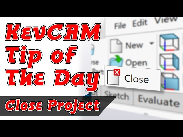 Tip of the Day - Proper Way To Close Project