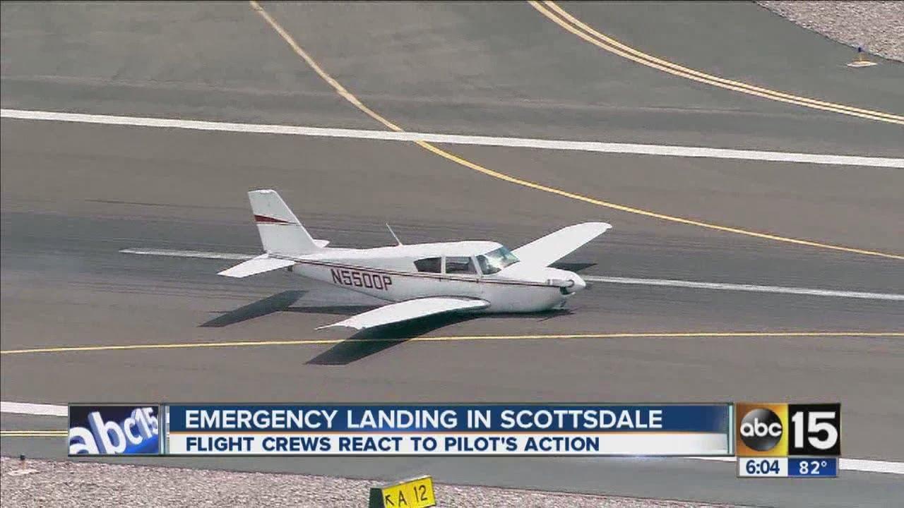 Scottsdale plane belly-landing