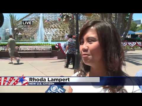 Mobile Weather Lab-U.S. CItizen Swearing In Ceremony at Great America-Lampert Family
