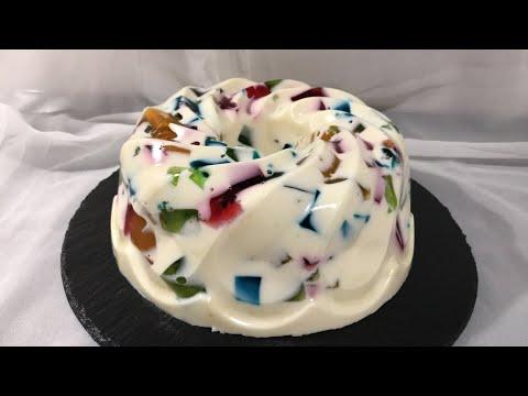 Торт-желе с БИСКВИТОМ, БИТОЕ СТЕКЛО, Очень Простой Рецепт