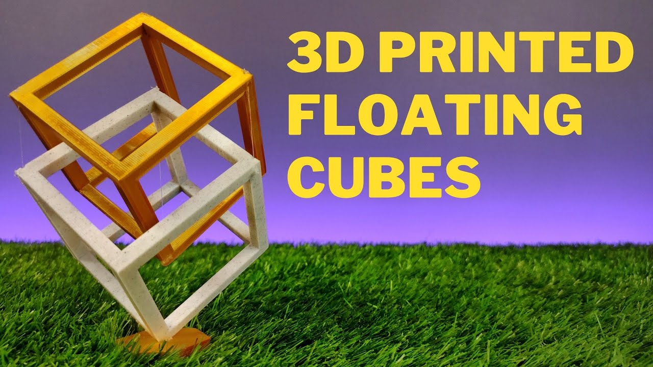 3D Printed Lovely Floating Cubes┇ 3D Printing a Gift #Shorts