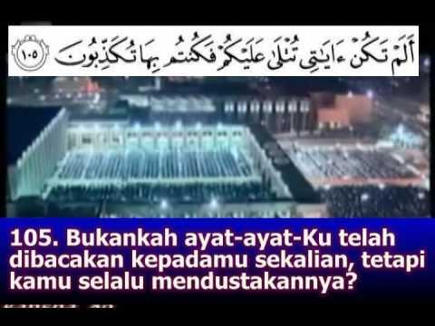 Surah Al Muminun 93 - 118 Teks Indonesia -Mishary Al Afasy