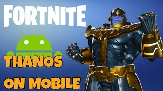 NEW FORTNITE INFINITY GAUNTLET ON MOBILE! - Paying as THANOS! // Fortnite Mobile