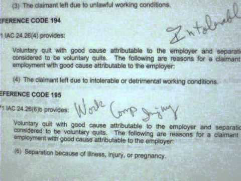 Iowa Unemployment Reasons for voluntary quit good cause that allow benefits