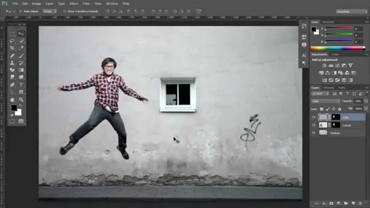 Menyamakan warna foreground dan background untuk image composite dengan Adobe Photoshop