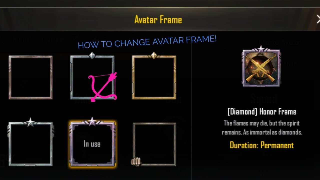 Pubg Mobile How To Change Avatar Frame And Avatar Photo