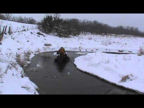 atv mudding with h&h motorsports winter water run # 3
