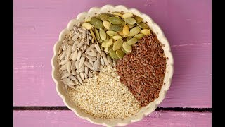 Чем ПОЛЕЗНЫ СЕМЕЧКИ: подсолнуха, тыквы, кунжута и семян льна!