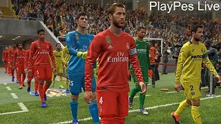 PES 2019 - VILLARREAL vs REAL MADRID - Full Match & Amazing Goals - Live Broadcast Camera Gameplay