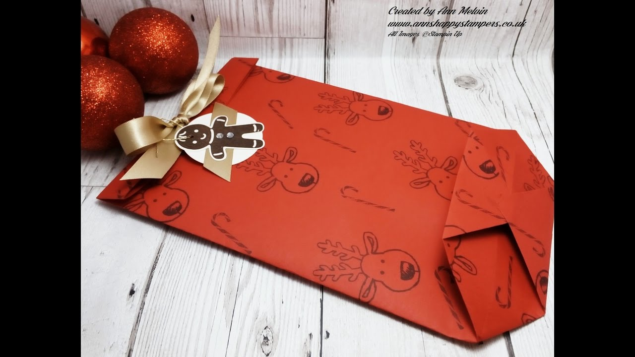 Xmas Gift Bag made with Envelope Paper & Cookie Cutter