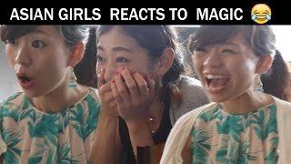 Asian women reacts to magic -Julien Magic