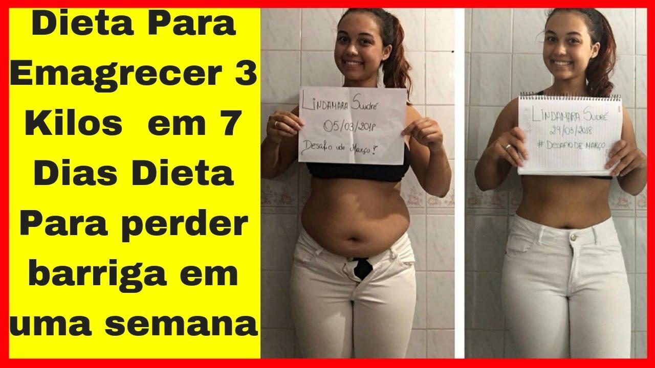 Dieta para perder peso 3 dias