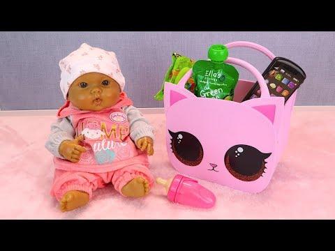 #Куклы СОБИРАЕМ НА УЛИЦУ Пупсика Мультик Для девочек Игрушки для детей Мама Маша