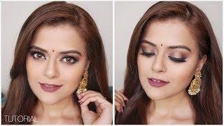 Navratri Makeup Look 2018 | Indian Festive Glam | GRWM
