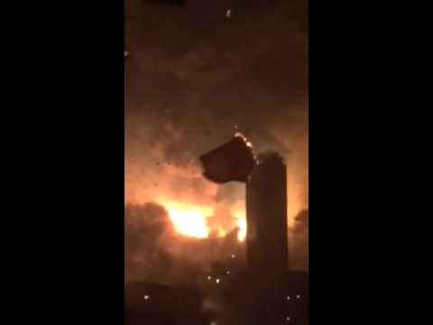 Tianjin explosion broken window || Tianjin Dongjiang Port Rui Hai International