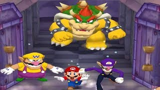 Mario Party 5 - 4 Player Minigames - Yoshi Vs Mario Waluigi Wario All Funny Mini Games (Master CPU)