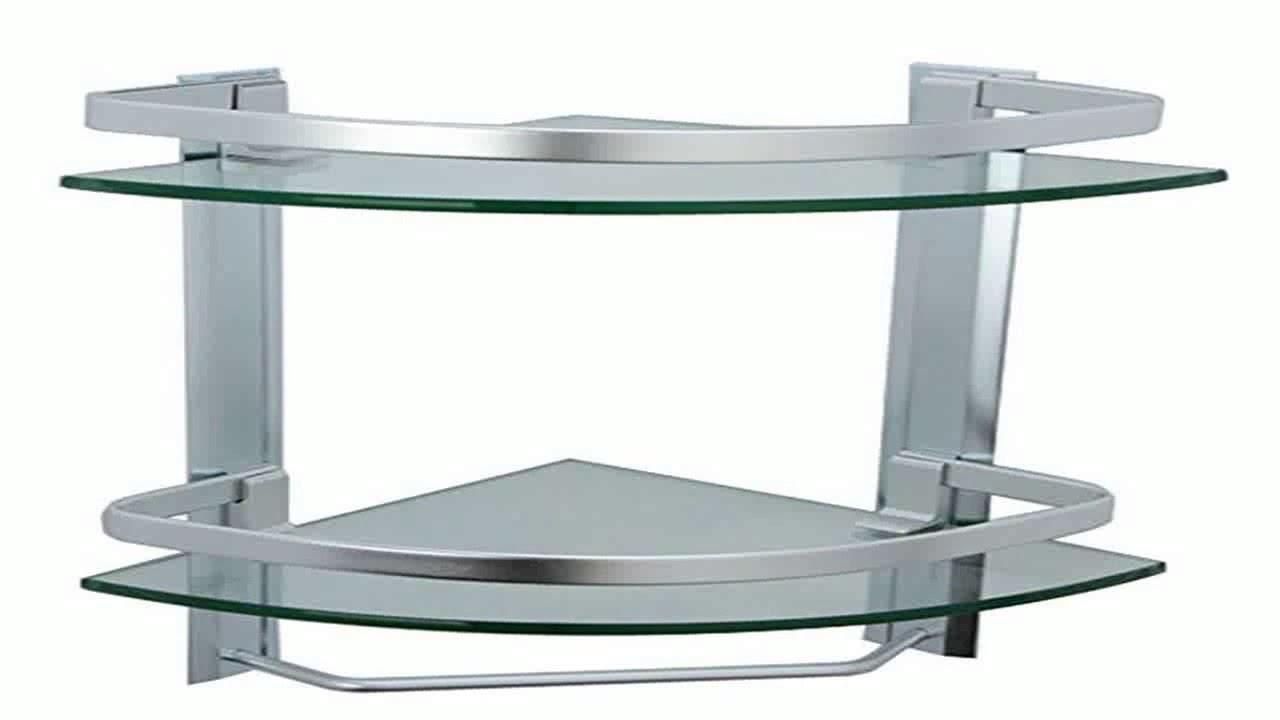 KES Bathroom 2 Tier Corner Glass Shelf with Wide Rail and Towel Bar ...