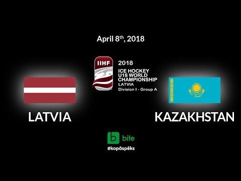 Latvia - Kazakhstan, Ice Hockey U18 World Championship, 2018