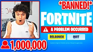 FaZe JARVIS *BANNED* AGAIN after STREAMING Fortnite 1 YEAR LATER!
