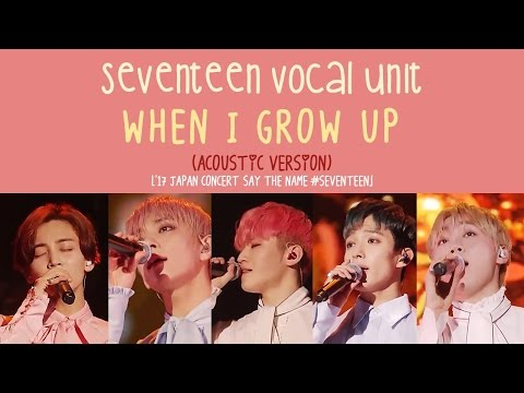 [ENG/HAN/ROM] SEVENTEEN Vocal Team - When I Grow Up (어른이 되면) [Acoustic ver.]