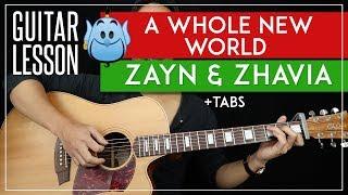 A Whole New World Guitar Tutorial 🧞 Aladdin Movie Zayn & Zhavia Guitar Lesson |Chords + TAB|