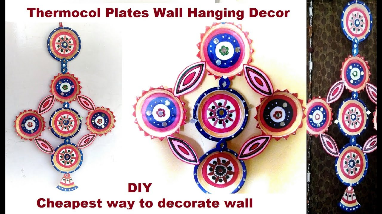 Diy How To Make Wall Hanging Using Thermocol Plates