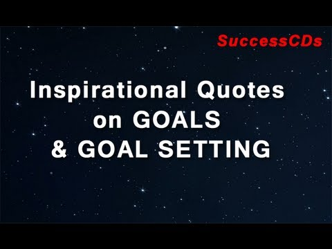 Quotes About Goals Custom Inspirational Quotes On Goals And Goal Setting YouTube