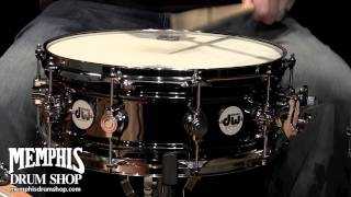 DW 14 x 5.5 Design Series Black Nickel over Brass Snare Drum with MAG Throw off