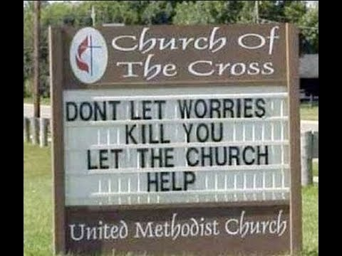 God Is I Control Funny Church Signs Youtube