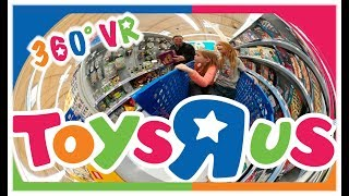360° Toys R Us Tour Every Aisle - Last Trip Before They Close - VR Tour
