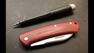 How to disassemble and maintain the Benchmade Proper Slipjoint Pocketknife