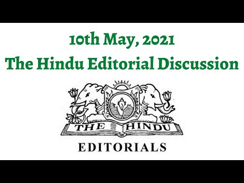 10th May 2021 - The Hindu Editorial Discussion (TRIPS waiver no magic pill, Judicial intervention)