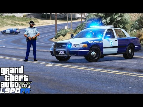 GTA 5 LSPDFR Police Mod 345   Massachusetts State Police Texture Pack   All Units Respond Code 3
