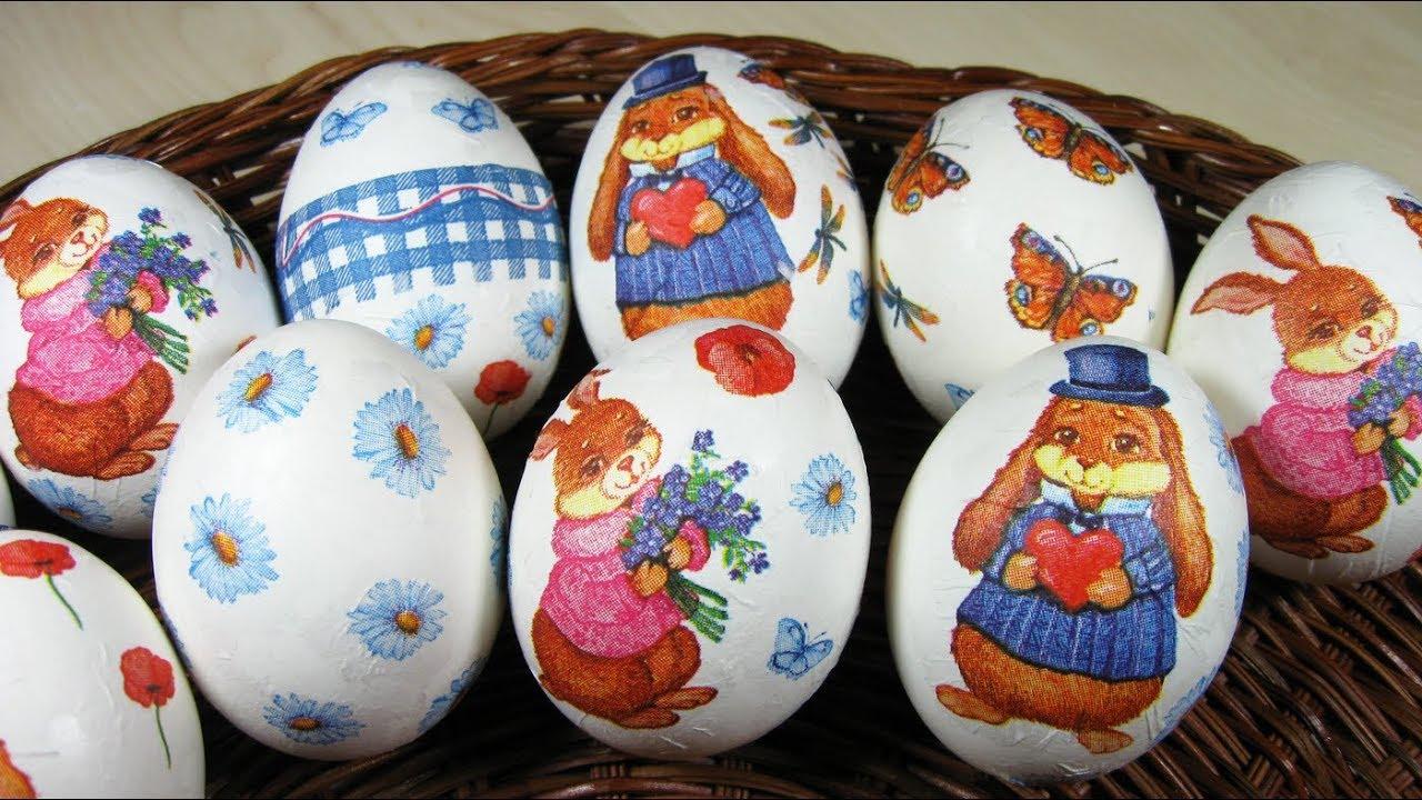 НЕОБЫЧНЫЕ Яйца на ПАСХУ /ДЕКУПАЖ / Очень Красиво Просто ...