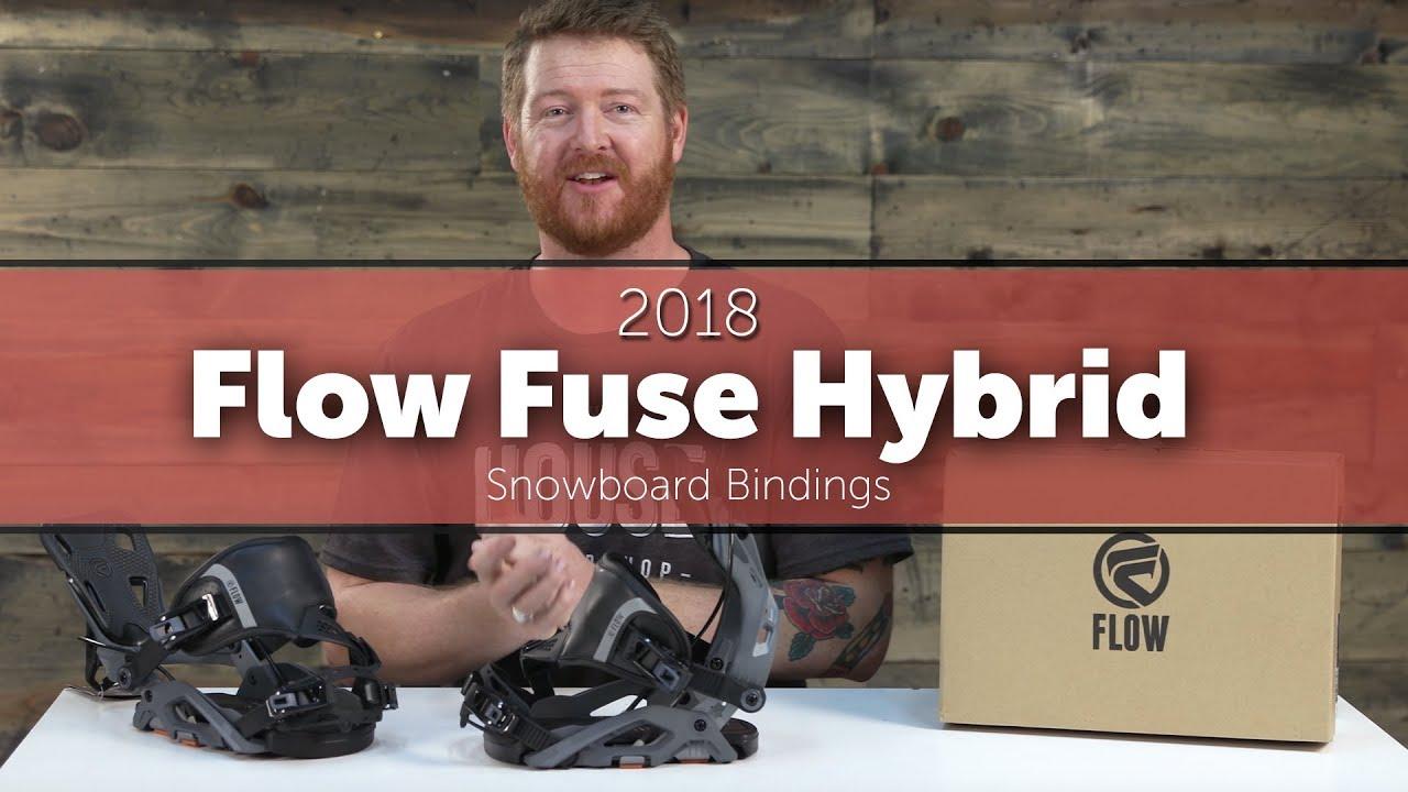 9f13b58fa4ec 2018 Flow Fuse Hybrid Snowboard Bindings - YouTube