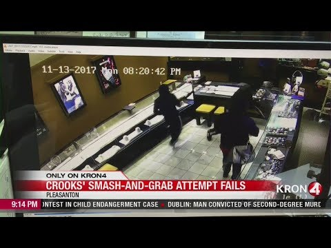 Criminals storm jewelry store in smash-and-grab attempt Failed