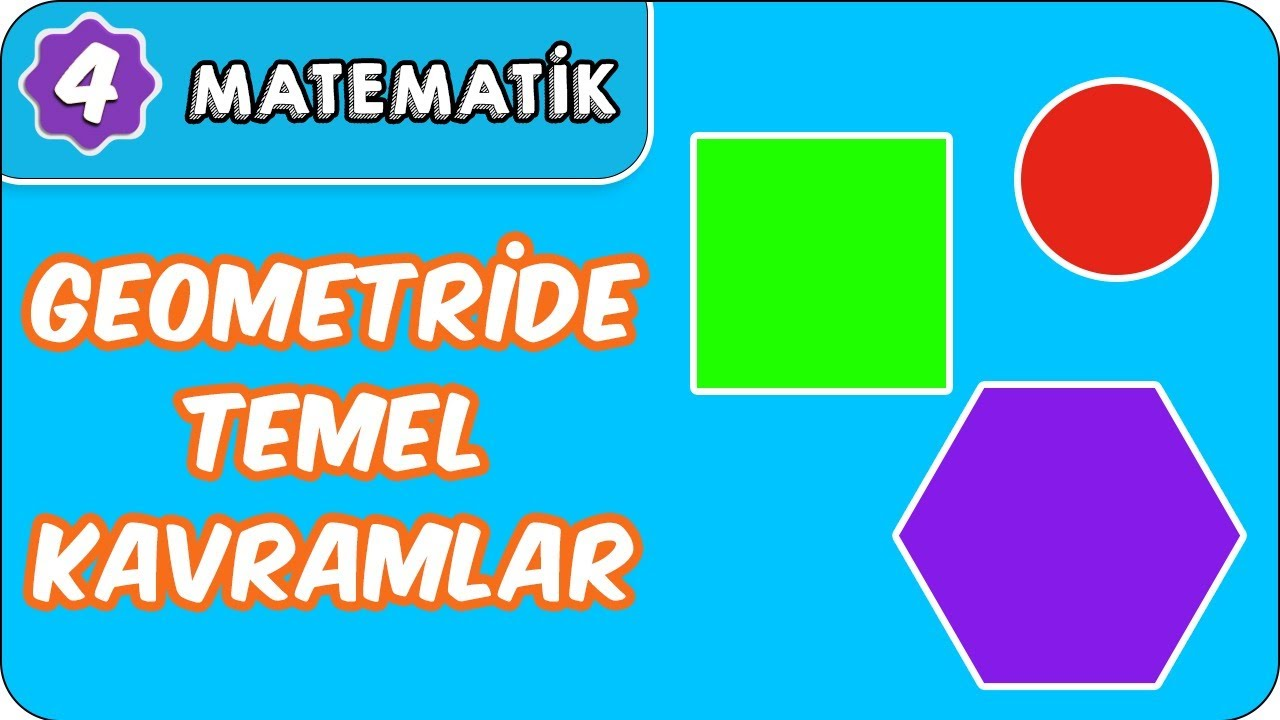 Geometride Temel Kavramlar (Açı) | 4. Sınıf Matematik evokul Kampı