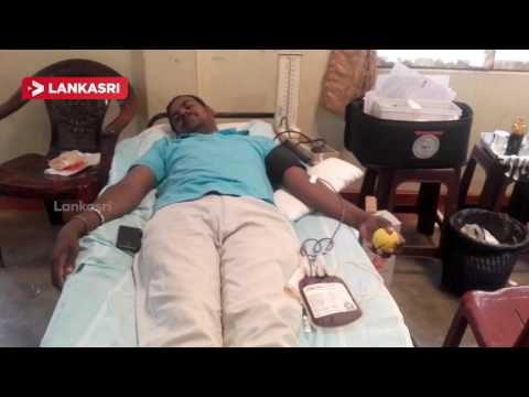 Blood donation camp in Jaffna