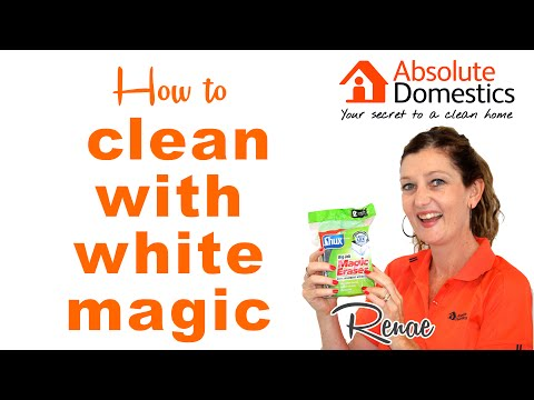 How to Clean with a White Magic Eraser