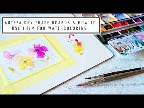 Arteza Dry Erase Board Review- How To Use It For Watercoloring!