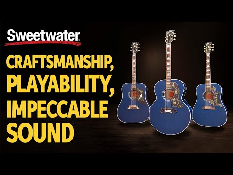 Gibson Acoustics in Viper Blue, Sweetwater Exclusive