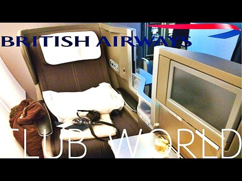 British Airways A380 BUSINESS CLASS (Club World) Los Angeles to London