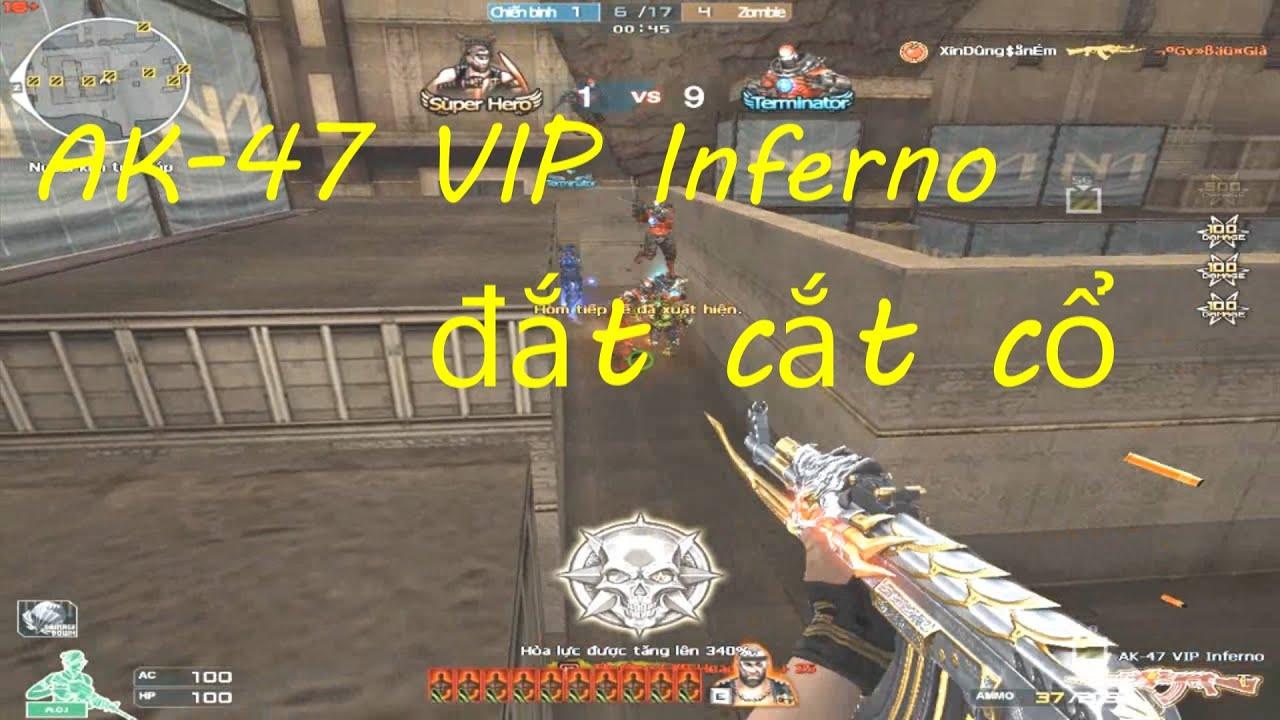 [ Bình Luận CF ] AK-47 VIP Inferno - Tiền Zombie v4