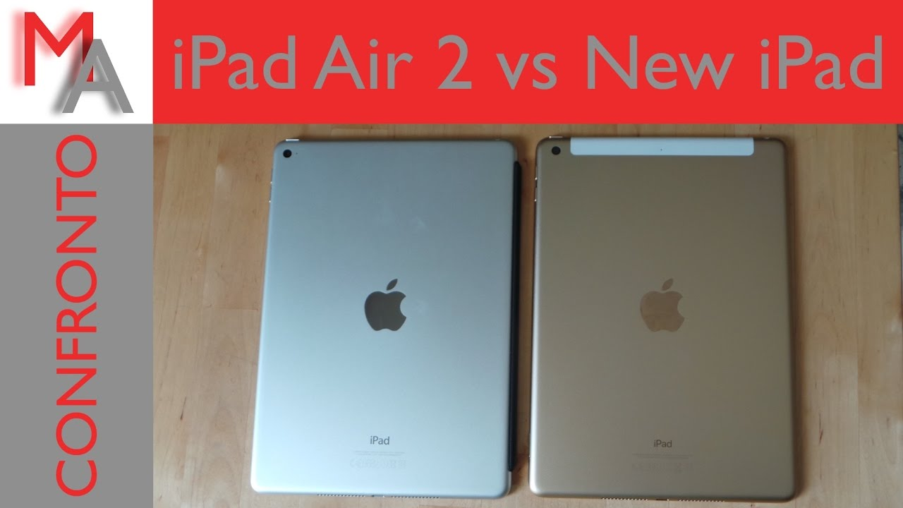 new ipad 2017 vs ipad air 2 confronto e speed test. Black Bedroom Furniture Sets. Home Design Ideas